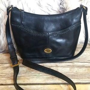 TIGANELLO Black Leather Crossbody Bag
